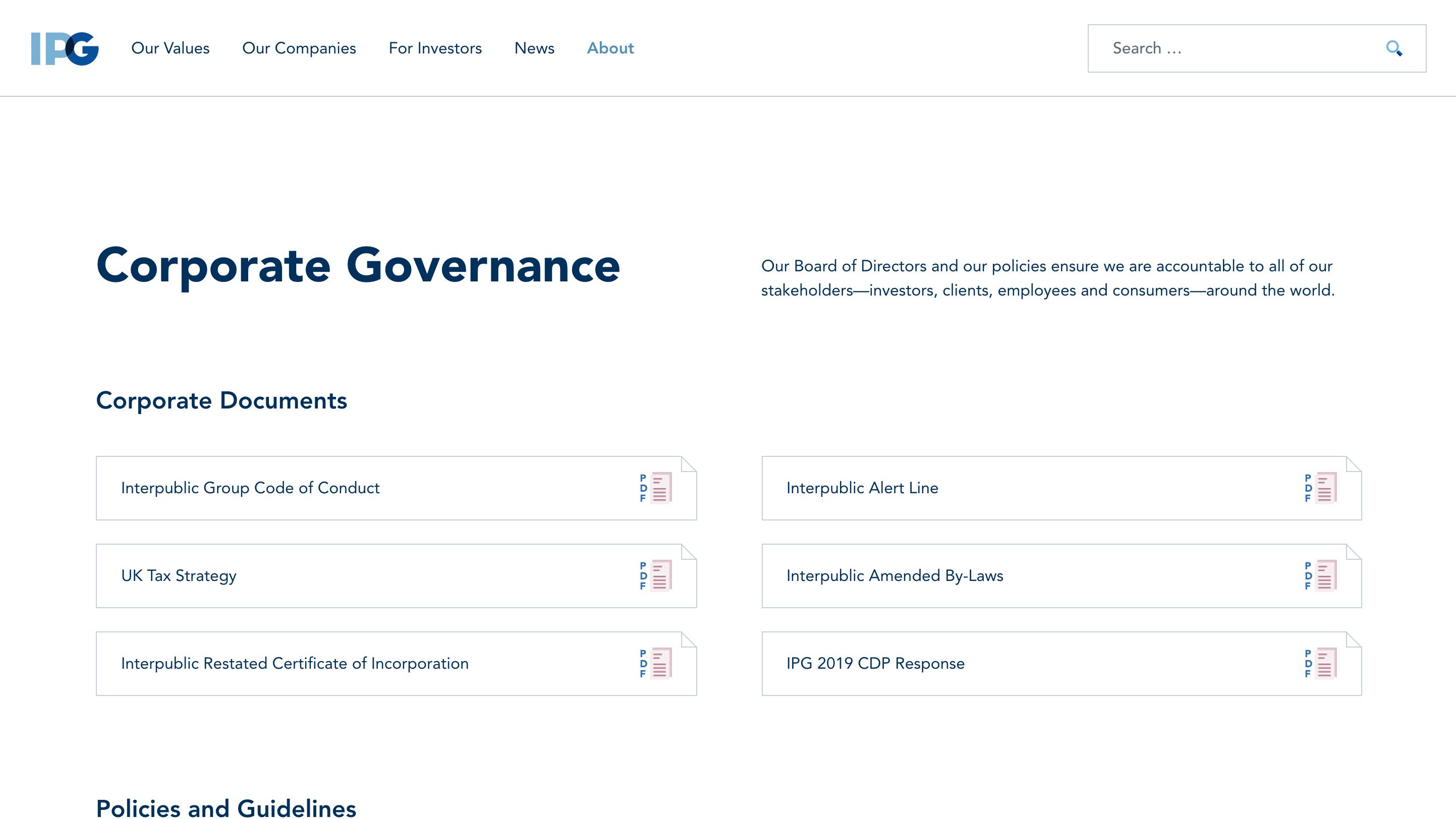 Interpublic Group Corporate Governance