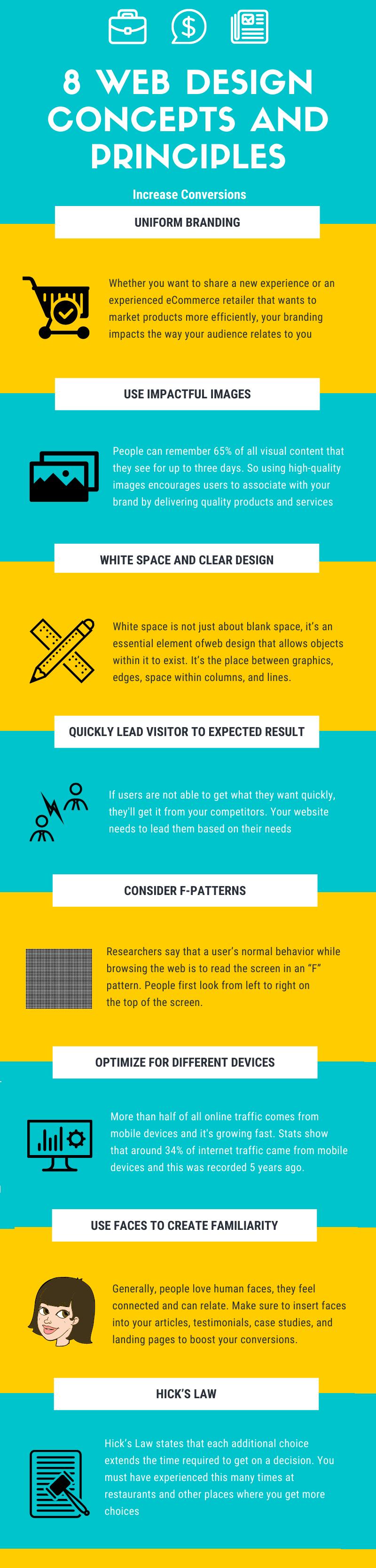 web design conversion infographic