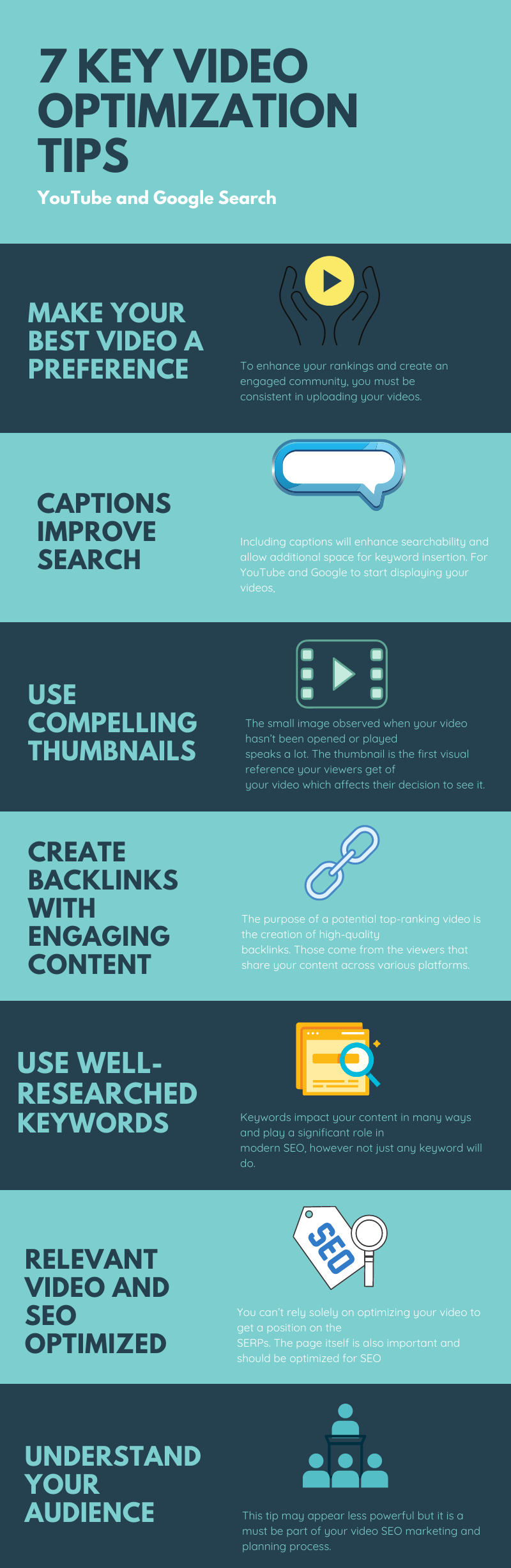 video optimization tips infographic