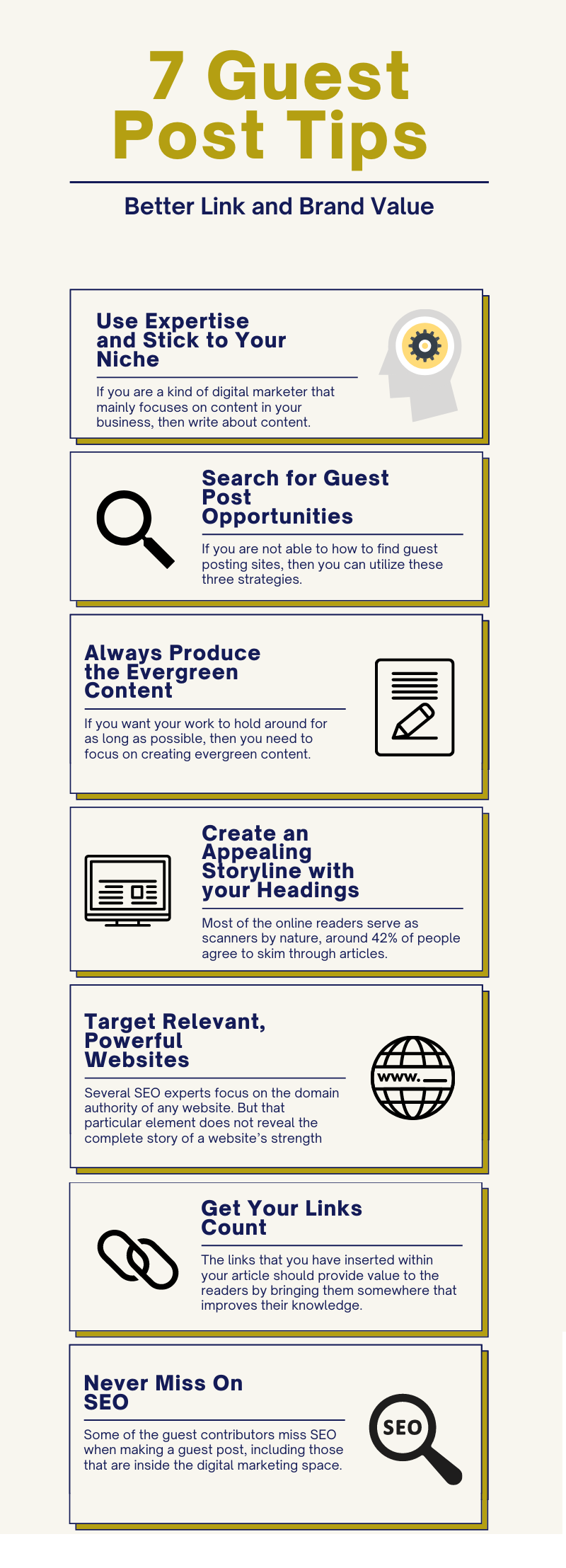 guest posting tips infographic