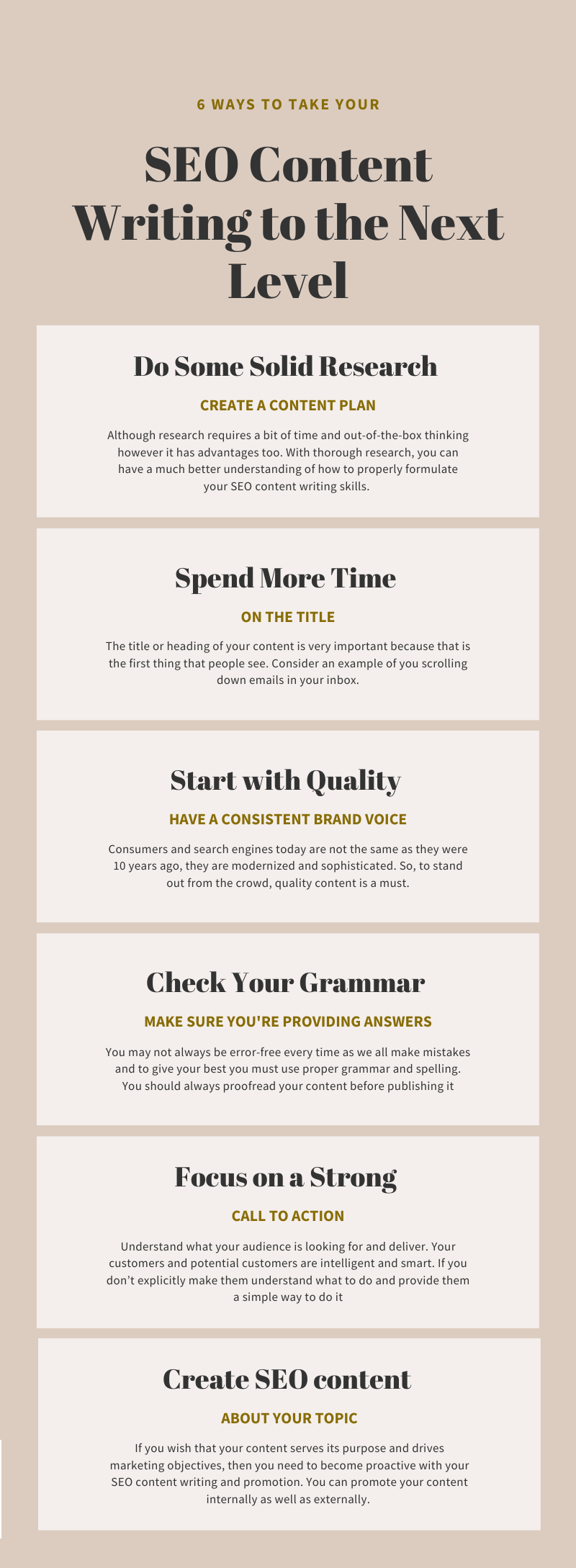 seo content writing infographic
