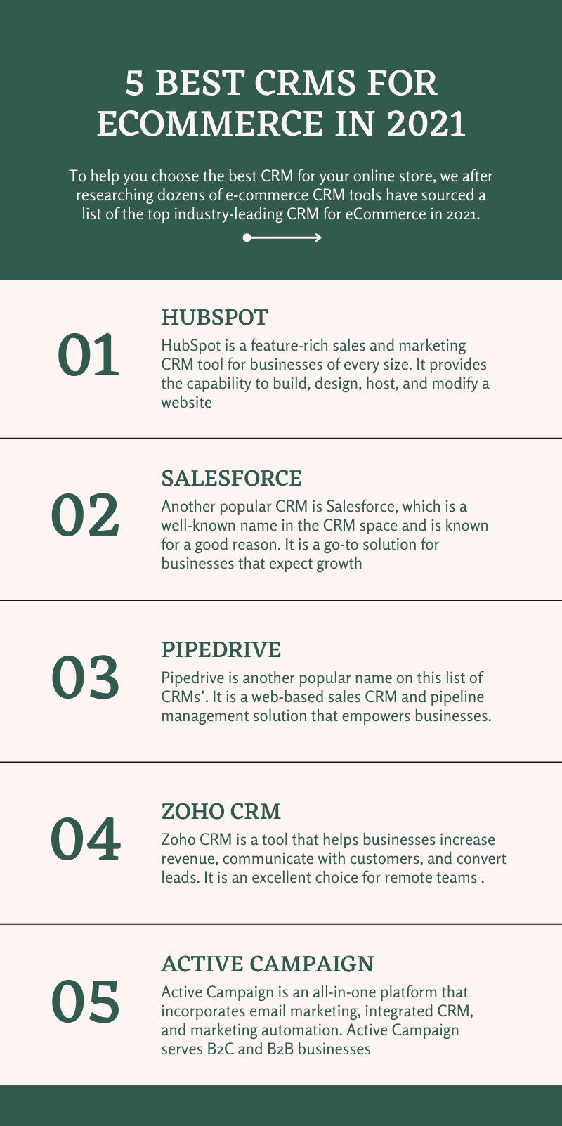 crm for ecommerce infographic