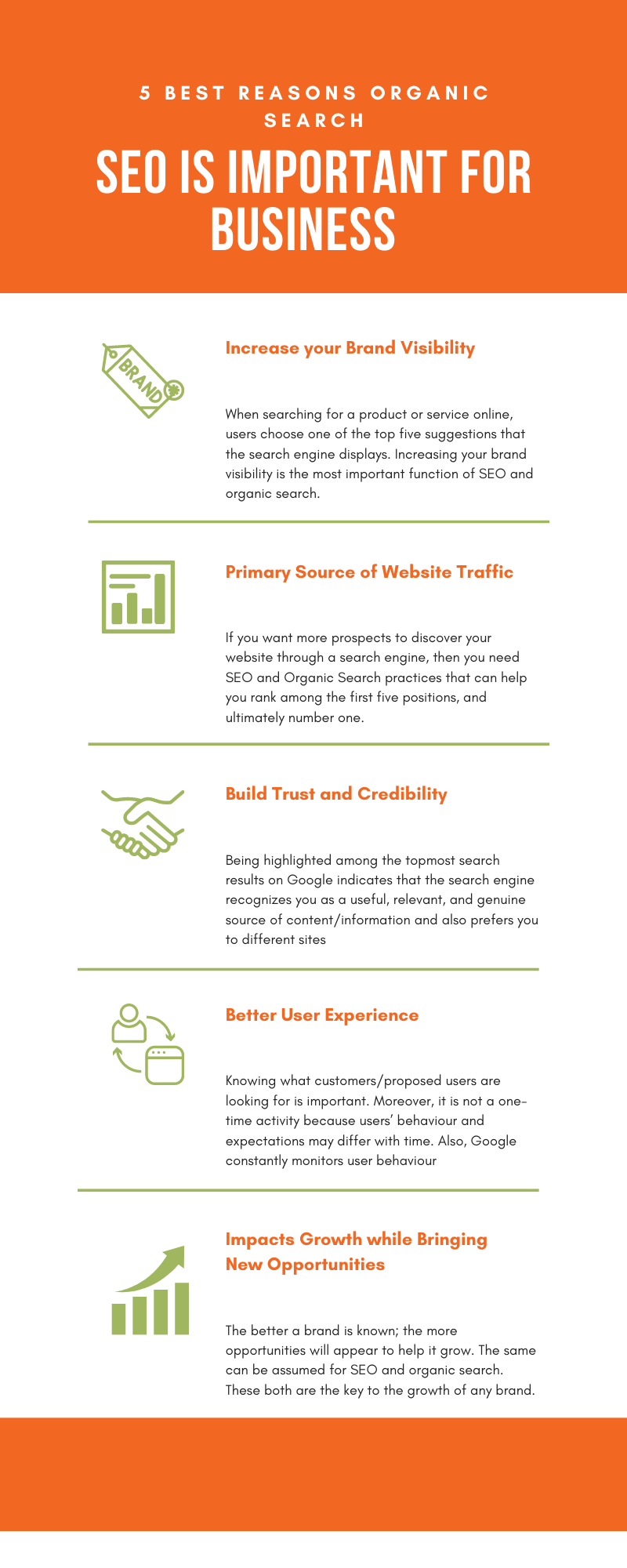 Organic Search and SEO is important for business infographic